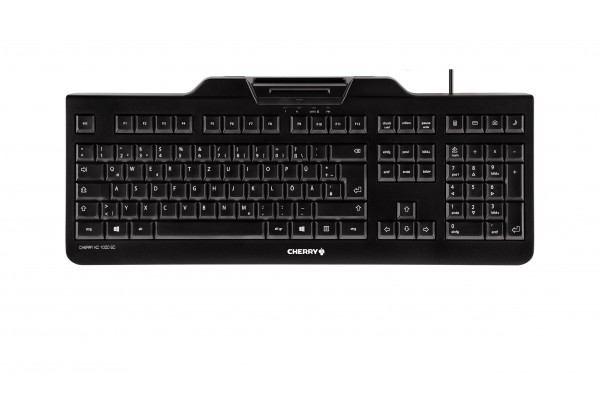 CHERRY Clavier +cart puces, KC 1000 SC USB noir AZERTY BE